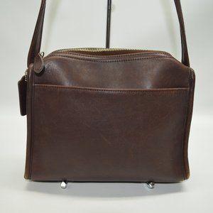 Coach Vintage Legacy Brown Leather Zip Bag 9053